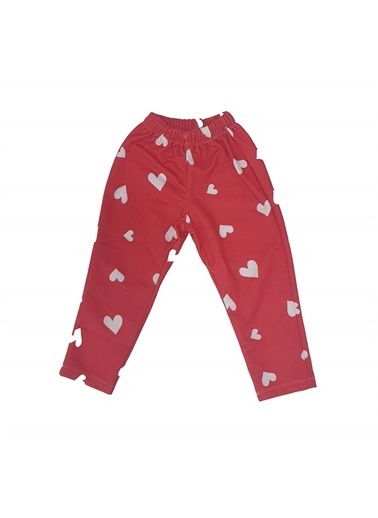 Quzucuk Kids Kız Çocuk Baskılı Pijama Altı Kırmızı